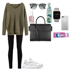"""""""Sassy"""" by tcolasante on Polyvore featuring NIKE, Gucci, Givenchy, Essie, S'well and Ray-Ban"""