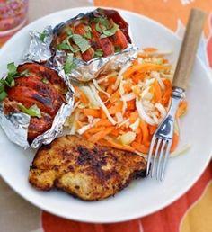Grillattua broileria ja mozzarella-tomaatit