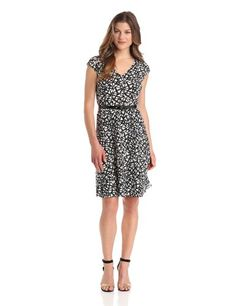 Anne Klein Women's V-Neck Swing Dress #workdresses
