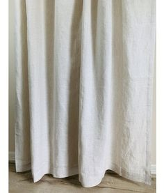 Sale off, Natural Linen Shower Curtain ready to ship Shower Curtain Sizes, Custom Shower Curtains, Romantic Room, Romantic Homes, Linen Pillows, Linen Fabric, Extra Long, Selling Handmade Items, Fabric Swatches
