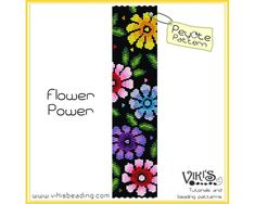 Flower Power: Peyote Stitch bracelet Pattern - INSTANT DOWNLOAD pdf / Special offer with voucher code