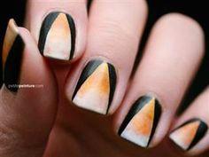 Halloween nail art   Candy corn nail art