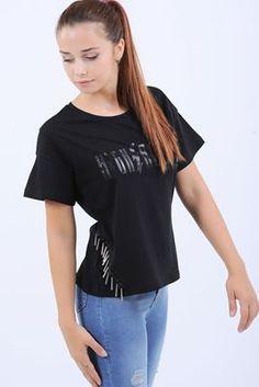 Detayları Göster High Above Baskılı Siyah T-Shirt
