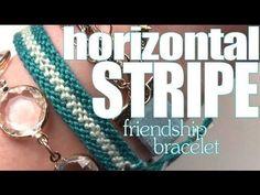 How To Make Friendship Bracelets ♥ Long Stripe - YouTube