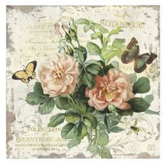 I really like this piece of tradditional floral wall art.  I like the beautiful flowers along with the colorful butterfly.  This is a beautiful piece of modern wall art. Floral Wall Art - How to Decorate using Floral Wall Art