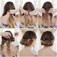 5 Braids to Try This Summer (No Matter How Long Your Hair Is!) | Her Campus | [4] Triple Braid Buns