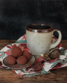 Lavender Truffles:        2/3 cup heavy whipping cream      1 1/2 Tablespoons lavender buds      2 Tablespoons honey      1 1/3 cups dark chocolate pieces (65–70% cocoa), roughly chopped      cocoa powder