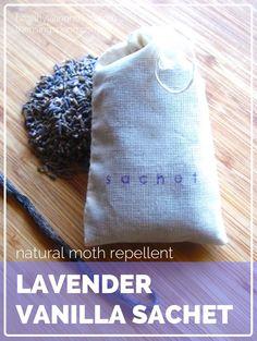 Natural Moth Repellent | Lavender Vanilla Sachet | healthylivinghowto.com #guestpost #nontoxic #diy