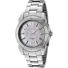 Invicta Women's 0458 Angel Collection Stainless Steel Mother-of-Pearl Watch -- Don't get left behind, see this great  product