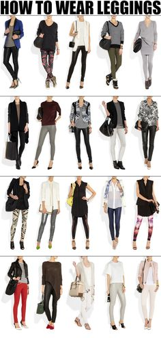 How to wear leggings? What to wear with leggings? – Erin Cleveland How to wear leggings? What to wear with leggings? how-to-wear-leggings of Style Mode Outfits, Winter Outfits, Casual Outfits, Fashion Outfits, Fashion Tips, Fashion Shoes, Ladies Fashion, 40 Year Old Womens Fashion, Spring Outfits