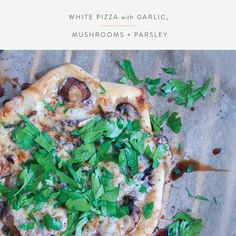 Summerfield Delight | White Pizza with Gourmet Mushrooms and Gouda
