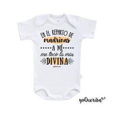 """Body para bebé """"Padrino, madrina, y padrinos divinos"""""""