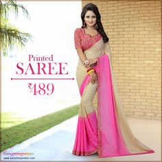Printed Sarees online collection at the best price. Checkout variety of Printed Sarees for colors, Fabric, styles with express delivery. #eanythingindian #beindian #buyindian #ethnic #saree #printedsaree #sareeoftheday #vamikasaree Online Collections, Printed Sarees, Sarees Online, Ethnic, Sari, Delivery, Indian, Beige, Colors