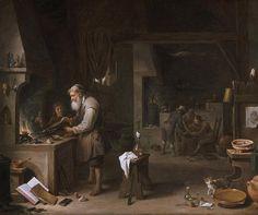 L'Alchimiste - David Teniers le Jeune (1610-1690)