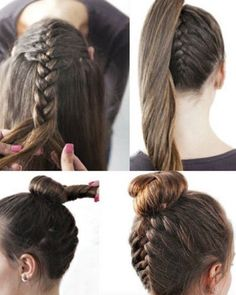 Hair Tutorials to Style Your Hair hair tutorials for medium hair. Could probably work with long hairhair tutorials for medium hair. Could probably work with long hair Hair Tutorials For Medium Hair, Medium Hair Styles, Curly Hair Styles, Natural Hair Styles, Medium Hair Braids, Hair Medium, Pretty Hairstyles, Girl Hairstyles, Simple Hairstyles