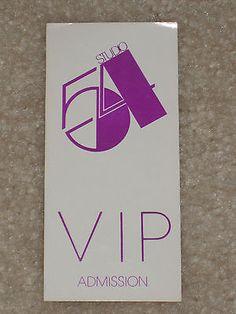 Studio 54 original vip admission pass