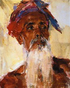 Старик с острова Бали (После 1938). Николай Фешин