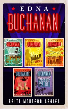 New York Times bestselling author Edna Buchanan brings the heat to Miami with her Britt Montero series, about a crime reporter who always finds herself in the middle of the story—and the action.  http://diversionbooks.com/ebooks/britt-montero-series-omnibus-edition