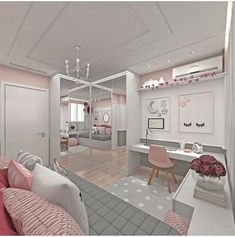 Teen girl bedrooms, stop by this ref for that truly superb bedroom design, make-over number 5230094180 Cute Bedroom Ideas, Cute Room Decor, Girl Bedroom Designs, Awesome Bedrooms, Bedroom Themes, Bedroom Decor, Bedroom Furniture, Small Room Bedroom, Girls Bedroom