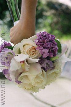 Wedding, Flowers, Bouquet, White, Purple