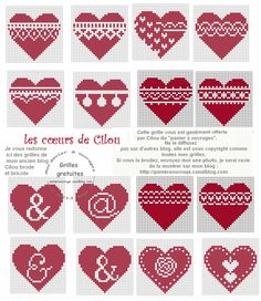 Lots of heart ideas. I'd like to make some lavender bags Cross Stitch Heart, Cross Stitch Cards, Cross Stitch Borders, Cross Stitch Designs, Cross Stitching, Cross Stitch Embroidery, Cross Stitch Patterns, Christmas Hearts, Christmas Cross