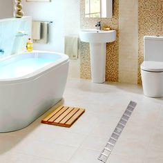 Luxury Bathroom Drains Rectangle Type 304 Stainless Steel Bathroom Linear Shower Floor Drain Srainer 600mm x 67mm #Affiliate