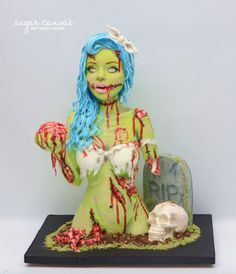 pin-up style zombie by Sugar Canvas