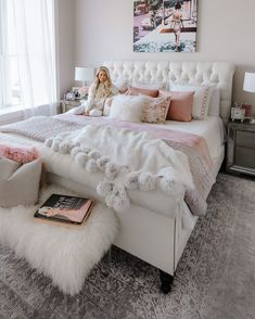 Pink bedroom decor - 91 cozy home decorating ideas for girls bedroom 81 Dream Rooms, Dream Bedroom, Home Bedroom, Girls Bedroom, Teenage Bedrooms, Bedroom Furniture, Deco Furniture, Bedroom Apartment, Furniture Plans