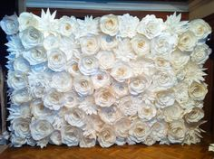 1 Set of Big Paper Flowers for Backdrop by ManeePaperArt on Etsy