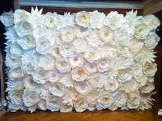 1 Set of Big Paper Flowers for Backdrop by ManeePaperArt on Etsy