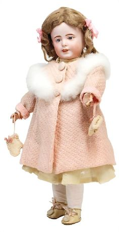 SFBJ 238, biscuit porcelain character doll, 45 cm,