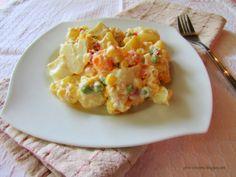 Potato Salad with Yogurt!!! #food #recipe #salad #vegetables #health #potato #yogurt #mayonnaise