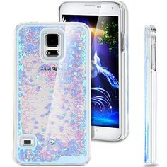 Galaxy S5 Case, NSSTAR Galaxy S5 Bling Case, Liquid Case for Galaxy S5, Creative Design Flowing Liquid Floating Bling Glitter Sparkle Love Heart Hard Case for Samsung Galaxy S5 SV I9600 (Love:Blue) NSSTAR http://www.amazon.com/dp/B00ZFM3IG6/ref=cm_sw_r_pi_dp_eAEcwb04Q6Q8A