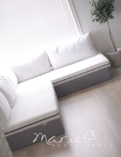 DIY Sofas and Couches - DIY Sofa With Ikea - Easy and Creative Furniture and Home Decor Ideas - Make Your Own Sofa or Couch on A Budget - Makeover Your Current Couch With Slipcovers, Painting and More. Step by Step Tutorials and Instructions http://diyjoy.com/diy-sofas-couches
