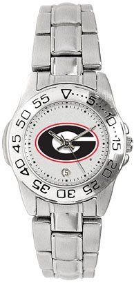 Georgia Bulldogs- (University of) Ladies Sports Steel Watch by SunTime. $49.95