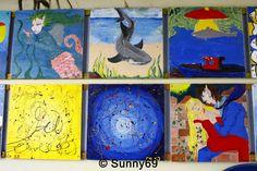 Kunstausstellung einer Grundschule in Irland