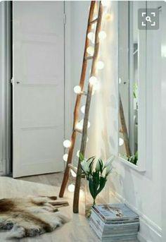 lighted up ladder.
