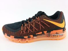 watch 9cdd5 9558a NEW Nike Air Max 2015 Premium Black Orange Mens Cushion Running SZ 11  Clothing, Shoes   Accessories Men s Shoes Athletic