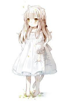 Untitled Anime Cat, Anime Angel, Manga Anime, Loli Kawaii, Kawaii Anime Girl, Gifs Kawaii, Neko, Vocaloid, Real Anime