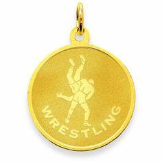 #Clasp, #Jewelry 14K Wrestling Charm #100To200, #Charms, #Clasp, #Jewelry @ BrightJewelryStore.