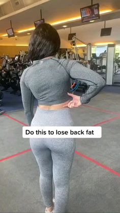 Gym Workout Videos, Gym Workout For Beginners, Fitness Workout For Women, Fitness Goals, Gym Workouts, Health Fitness, Back Fat Workout, Slim Waist Workout, Girl Workout