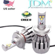 JDM ASTAR 6000LM CREE LED H4 All in one High/low Beam LED Headlight Kits Bulb #JDMASTAR