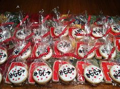 Cross country cookies for the middle school banquet | by onceuponacookie