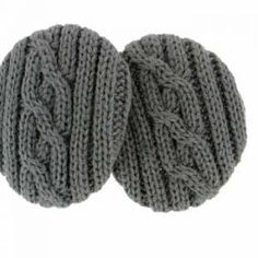 Charcoal Gray Cable Knit Earbags Now in beautiful cable knit, our patented cozy…
