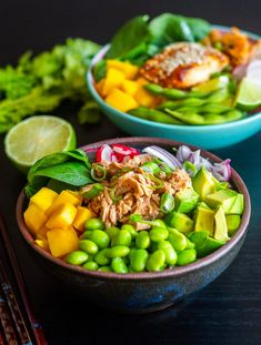 Salad Recipes, Vegan Recipes, Zeina, Poke Bowl, Kimchi, Food For Thought, Food Inspiration, Delish, Food Porn