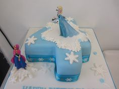 frozen number 4 cake! follow us for more amazing cakes #awesome