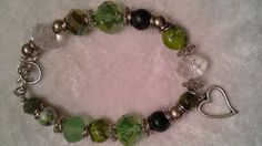 Shades of Green Bracelet by Sounique2013 on Etsy, $22.00