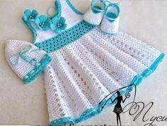 Crochet dress for girl! crochet websites free. | Crochet Free