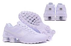 Nike Shox Deliver Men ShoesPure White Silver Casual Trainers Sneakers 317547