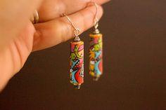Boho Fun - Paper Bead Earrings – Naoi